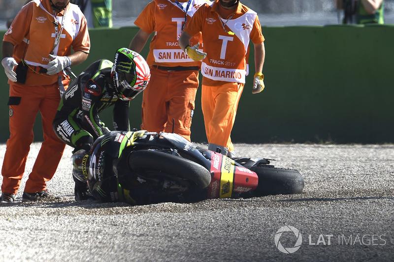 Johann Zarco, Monster Yamaha Tech 3 after his crash