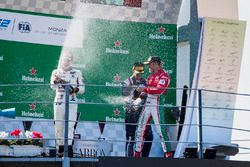 Podium: second place Sergio Sette Camara, MP Motorsport, Race winner Luca Ghiotto, RUSSIAN TIME, thi