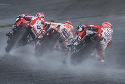 Данило Петруччи, Pramac Racing, Марк Маркес, Repsol Honda Team, и Андреа Довициозо, Ducati Team
