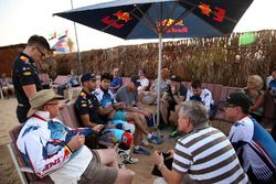 Daniel Ricciardo, Red Bull Racing talks to media