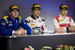 Press conference: winner Nobuharu Matsushita, ART Grand Prix, second place Oliver Rowland, DAMS, third place Nyck De Vries, Rapax