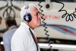 Lawrence Stroll in de Williams garage