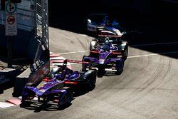 Jose Maria Lopez, DS Virgin Racing, leads Sam Bird, DS Virgin Racing, Robin Frijns, Amlin Andretti F