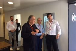 Sergio Marchionne, Presidente Ferrari y CEO de Fiat Chrysler Automobiles, Toto Wolff