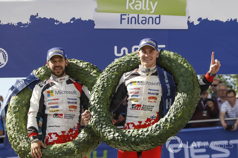 I vincitori Esapekka Lappi, Janne Ferm, Toyota Racing