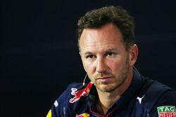 Christian Horner, Team Principal Red Bull Racing lors de la conférence de presse de la FIA
