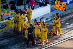 Team Penske celebrate the win