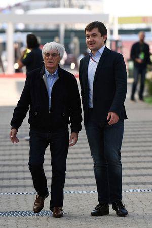 Bernie Ecclestone; Sergey Vorobyev, Streckenchef Sochi Autodrom