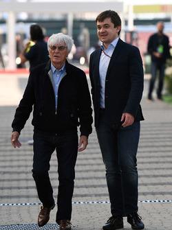 Bernie Ecclestone, Sergey Vorobyev, Sochi Autodrom Director General Adjunto