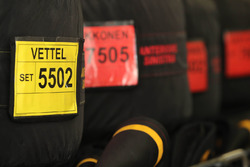 Gli pneumatici Pirelli di Sebastian Vettel, Ferrari