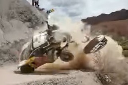 L'incidente di Carlos Sainz, Peugeot 3008 DKR (Screenshot)