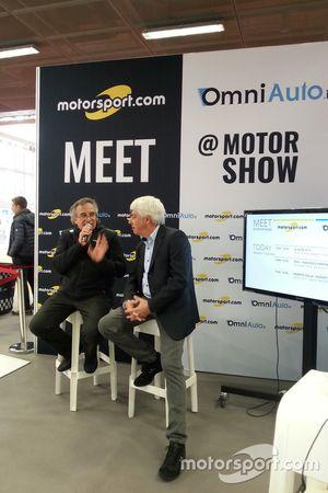 Franco Nugens, Direttore Motorsport.com, e Roberto Dalla direttore Motorsoprt di Magneti Marelli