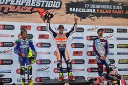 Podium: Race winner Marc Marquez; second place Toni Elias; third place Brad Baker