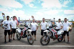 Joaquim Rodrigues, Hero MotoSports Team Rally y CS Santosh, Hero MotoSports Team Rally y Wolfgang Fi