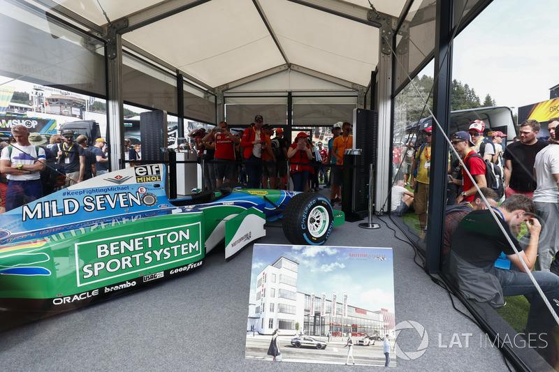 El Benetton B194 manejado por Michael Schumacher en 1994