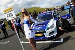 Grid girl of Ashley Sutton, Team BMR Subaru Levorg