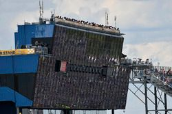 Frontstretch suites, spotters stand