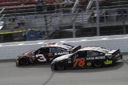 Austin Dillon, Richard Childress Racing Chevrolet, Martin Truex Jr., Furniture Row Racing Toyota