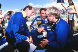 Adrian Newey, designer Williams F1, Nigel Mansell, David Brown, ingénieur de course Williams