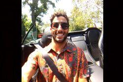 Daniel Ricciardo, vacaciones