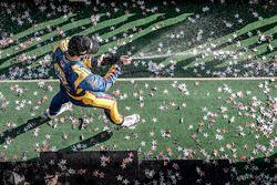 Alexander Rossi, Curb Herta - Andretti Autosport Honda, podio, champagne