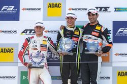 Podium, Rookie, Mick Schumacher, Prema Powerteam, Dallara F317 - Mercedes-Benz, Lando Norris, Carlin