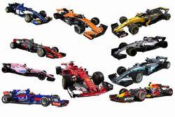 Todos los autos de F1 2017