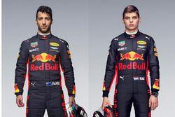 Daniel Ricciardo y Max Verstappen, pilotos de Red Bull Racing