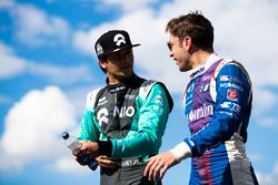 Nelson Piquet Jr., NEXTEV TCR Formula E Team; and Robin Frijns, Amlin Andretti Formula E Team