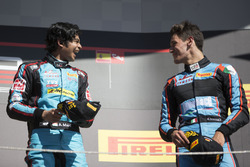 Podium: race winner Arjun Maini, Jenzer Motorsport, third place Alessio Lorandi, Jenzer Motorsport