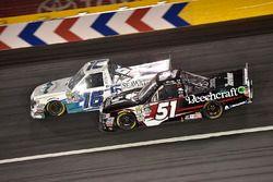 Kyle Busch, Kyle Busch Motorsports Toyota, Ryan Truex, Hattori Racing Enterprises Toyota