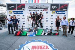 Podium: winner René Binder, Lotus, second place Roy Nissany, Lotus, third place Yu Kanamaru, RP Moto