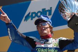 Podium: winner Sete Gibernau, Telefonica Movistar Honda MotoGP