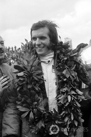 Race winner Emerson Fittipaldi, Team Lotus, Colin Chapman