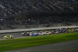 Matt Crafton, ThorSport Racing Toyota, Ben Rhodes, ThorSport Racing Toyota, Johnny Sauter, GMS Racin
