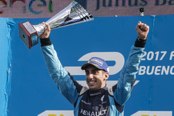 Podium: Sieger Sébastien Buemi, Renault e.Dams