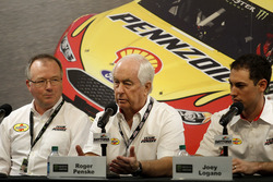 Roger Penske, Owner Team Penske and Joey Logano, Team Penske
