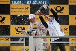 Podium: Maxime Martin, BMW Team RBM, BMW M4 DTM, Bart Mampaey, Team principal BMW Team RBM