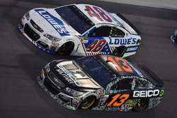 Ty Dillon, Germain Racing Chevrolet, Jimmie Johnson, Hendrick Motorsports Chevrolet