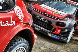 The car of Stéphane Lefebvre, Gabin Moreau, Citroën C3 WRC, Citroën World Rally Team