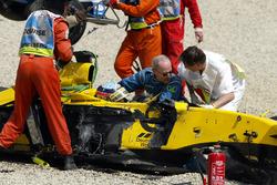 Takuma Sato, Jordan Honda después del choque