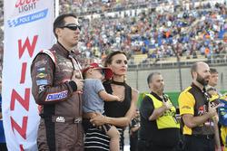 Kyle Busch, Joe Gibbs Racing Toyota, Samantha, Brexton Busch