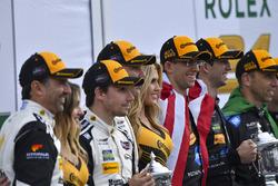 Podium: Ganadores, Ricky Taylor, Jordan Taylor, Max Angelelli, Jeff Gordon, Wayne Taylor Racing, seg