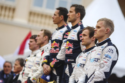 Podium : les vainqueurs Sébastien Ogier, Julien Ingrassia, M-Sport, les deuxièmes, Jari-Matti Latvala, Miikka Anttila, Toyota Racing, les troisièmes, Ott Tänak, Martin Järveoja, M-Sport