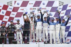 Podium Lmp2: winners #25 Algarve Pro Racing Ligier JSP2 Nissan: Andrea Roda, Aidan Read, Andrea Pizz