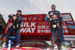 Winners Cyril Despres, David Castera, Peugeot Sport