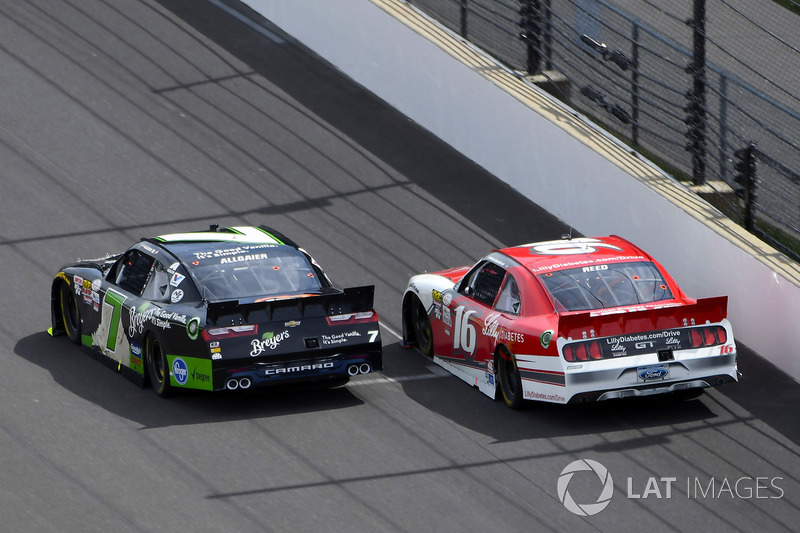 Justin Allgaier, JR Motorsports Chevrolet, Ryan Reed, Roush Fenway Racing Ford