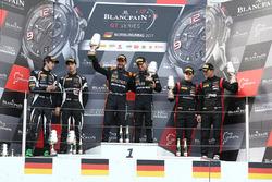Podium: les vainqueurs Franck Perera, Maximilian Buhk, les deuxièmes Andrea Caldarelli, Ezequiel Perez Companc, les troisièmes Marcel Fassler, Dries Vanthoor