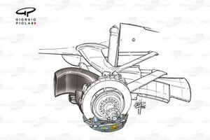 McLaren MP4-15 2000 front brake detail