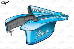 Capot moteur de la Benetton B200